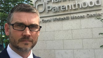 Global Vision Bible Church Pastor Greg Locke stands in front of Planned Parenthood in Washington, D.C.