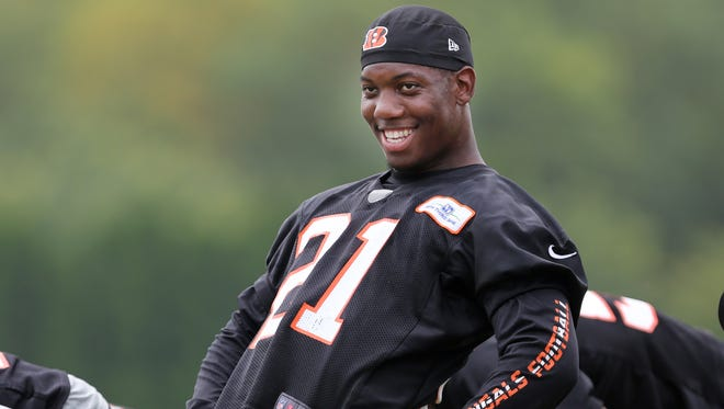 Darqueze Dennard cut eight pounds by eating more meals, and the result is a quicker first step.