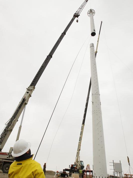 Great Falls College wind turbine