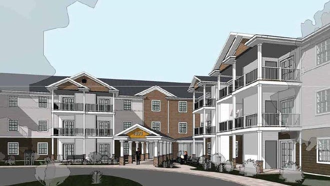 Rendering of the entry of Cobblestone at Ridge, to begin construction in the spring in Webster.