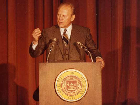 Gerald R. Ford, '35, HLLD '74