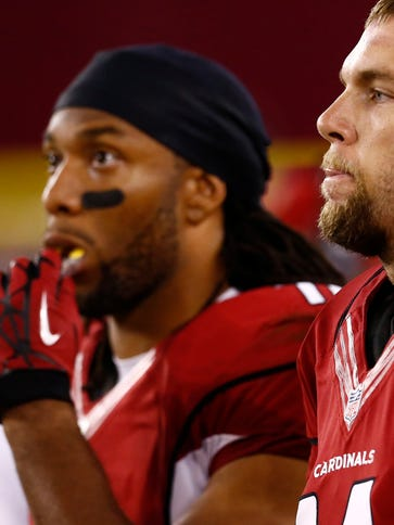Cardinals WR Larry Fitzgerald will be trying to make