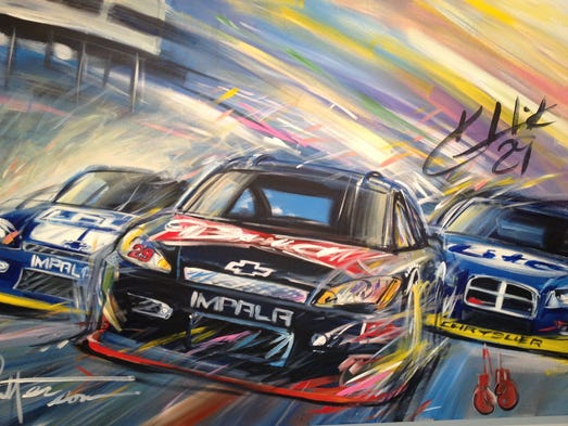 Phoenix Auto Parts >> Bill Patterson NASCAR paintings on display in Surprise