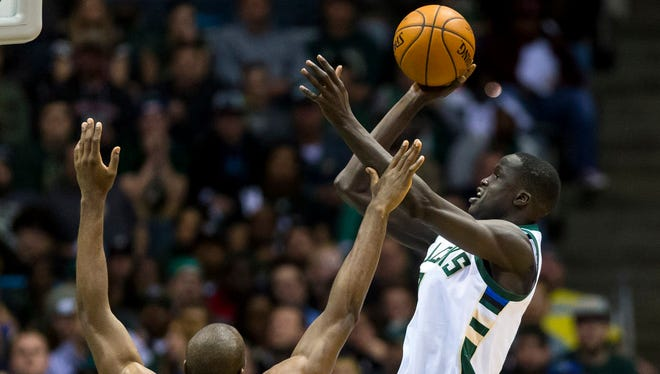 Bucks forward Thon Maker plans to stay in Milwaukee during the off-season and work on his game.
