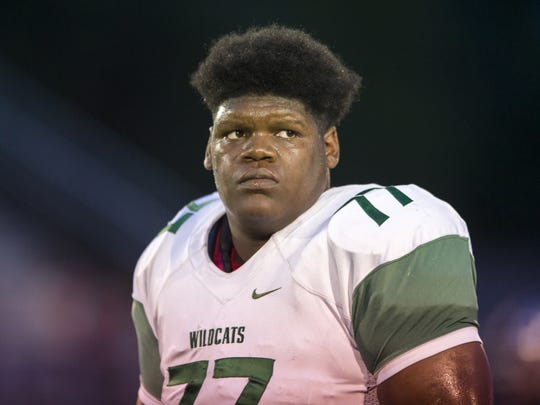 Lawrence North offensive lineman Caleb Jones is committed to IU.