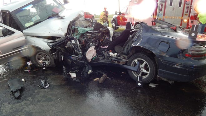 Maria Droesch's car was crushed and contorted during a June 20 fatal accident in Clinton County.