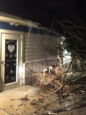A tree fell into All Kids First II on Stewart Street in Vineland Wednesday evening.