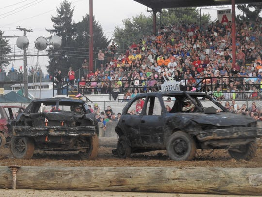Hundreds packed the grandstands at the Muskingum County