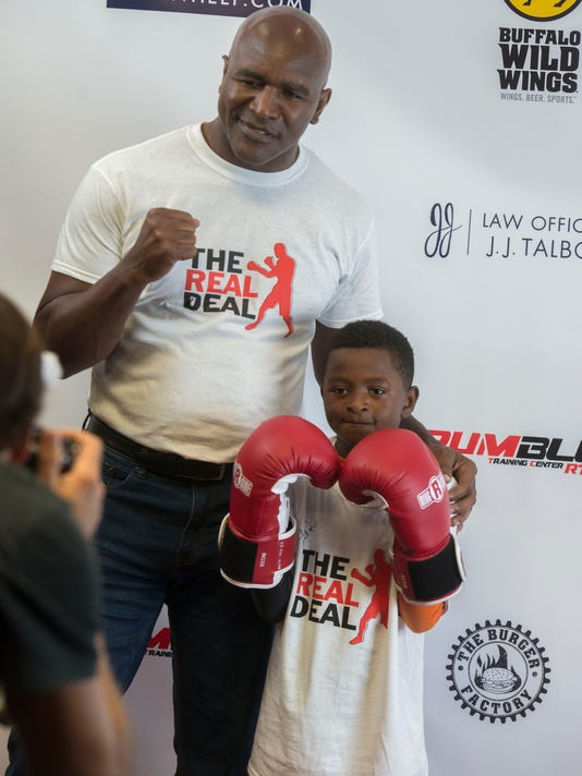 Evander Holyfield Boxing Clinic 12