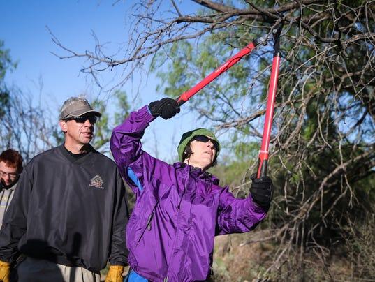 Volunteers at the San Angelo State Park