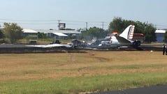 Facebook screenshot of plane crash on the runway at