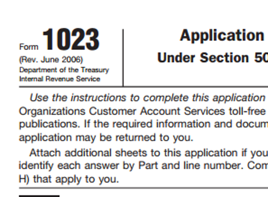 irs 1023 online application