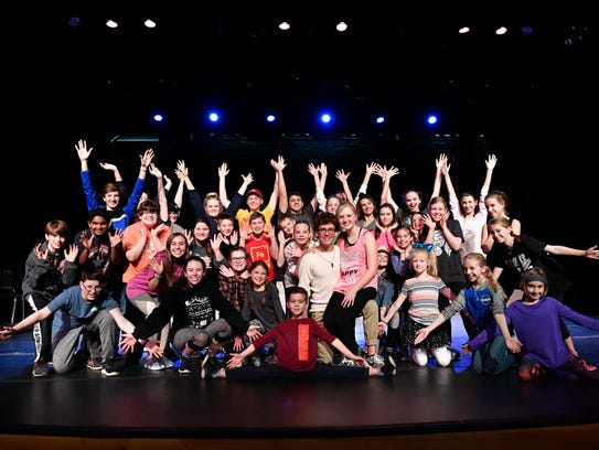"""The cast from the Paramount Theatre production of """"Legally Blonde, The Musical Jr."""""""