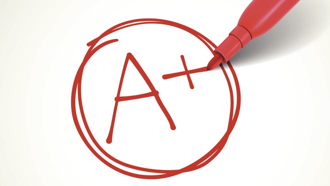 A plus report card grade