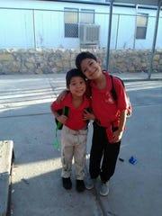 Nyine, left, and Jaden Vela
