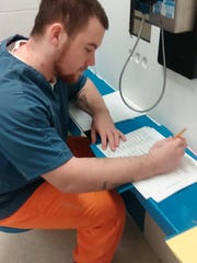 Student Josh earned his GED with the adult education program at the Herron Tech Center and is now working on his Work Keys certification.