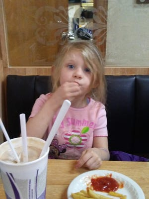 Ginger Wright says this was the last photograph taken of her daughter, Dakota Skye Wright, who died after being struck by a van in Hanover Borough in November 2016.