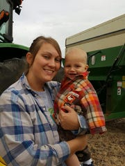 Miranda Loose is grateful that her mother and grandmother are able to care for her son, Jackson, while she puts in long hours during planting and harvest time on the family farm.