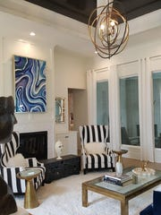 The Space Interiors team is known for its unique ceiling treatments and eclectic looks.