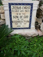 Jesus declared to be the Son of God, at 'The Garden Tomb.'