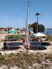 Osprey nest at Premier Adventure Park on Pensacola