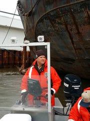 Fish and Wildlife Service fish biologist Dr. Tim Strakosh