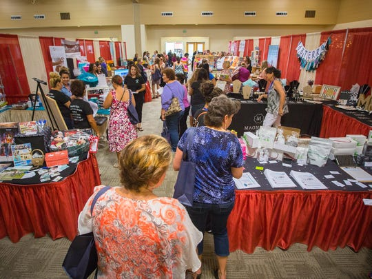 Women fill the Las Cruces Convention Center for the 5th annual Las Cruces Moms Mix & Mingle event, Saturday, July 16, 2016.