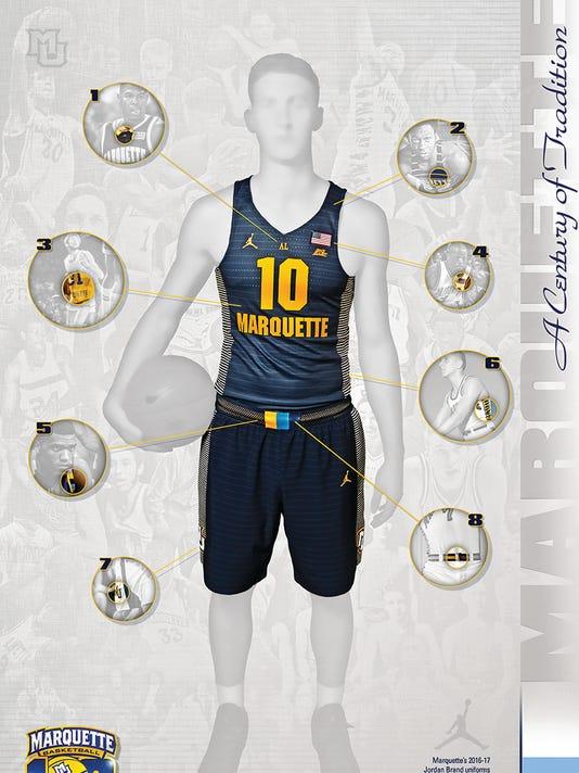 f8d13c5da Marquette unveils new jerseys at Madness