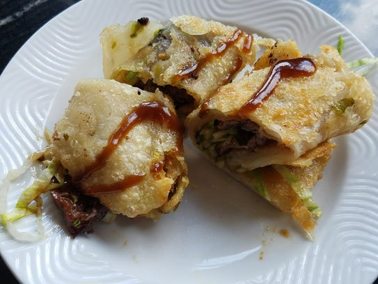 The star of the show were the scallion pancakes with