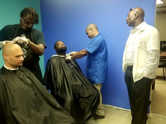 The Barber School gives free haircuts at Second Chance