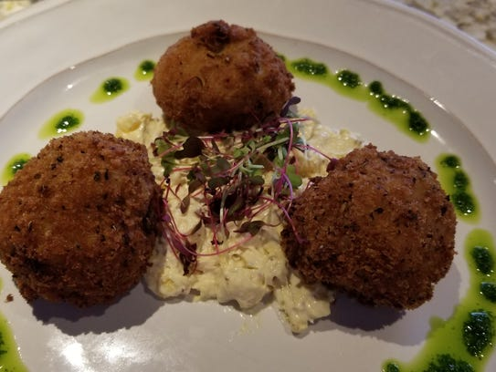 Crab Risotto Fritters.