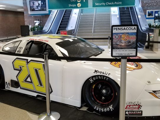The race car of Snowball Derby entrant Cole Rouse is