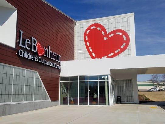 The new Le Bonheur Children's Outpatient Center facility