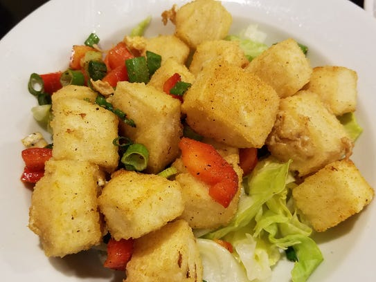 Salt and pepper tofu at the Yellow Elephant.