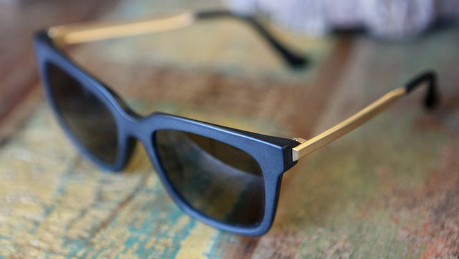 """Select frames with a masculine touch. """"Bella"""" frames, $75 at Tunies."""