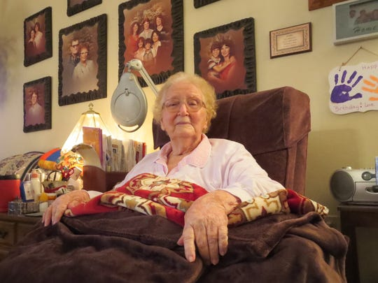Grace Commander, 92, is assisted with tasks of daily living by a home health care aid from Aging Matters in Brevard.