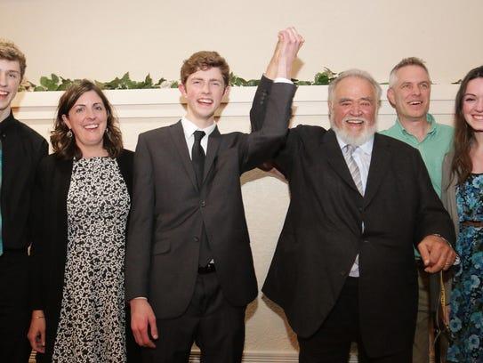 From Left: Sean Kaat; Mom Jennifer Kessenich, Devon