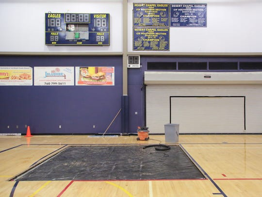 The gymnasium at Desert Chapel Christian School is
