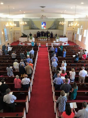 Attendance at Trinity United Methodist Church has more than doubled in the month since it became adopted by Buncombe United Methodist Church.
