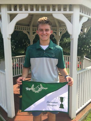 Connor Jakacki of Livonia is all smiles after winning the recent xxx at Fox Hills.
