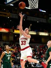 Indiana Hoosiers forward Amanda Cahill (33) takes a