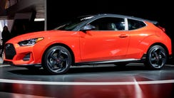The 2019 Hyundai Veloster is introduced during the