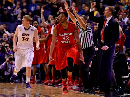 Illinois State Redbirds forward Deontae Hawkins (23)