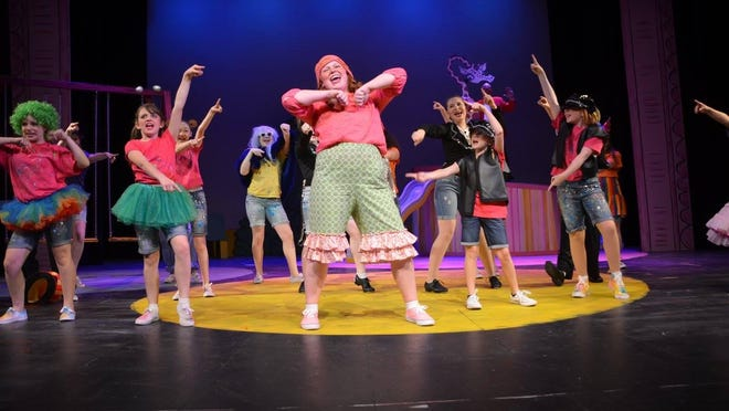 """The """"Freckleface Strawberry"""" cast during a rehearsal."""