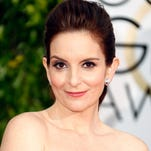 Host Tina Fey attends the Golden Globe Awards at The Beverly Hilton Hotel on Jan. 11 in Beverly Hills.