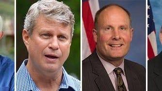 From left, U.S. Rep. Jack Bergman, U.S. Rep. Bill Huizenga, U.S. Rep. John Moolenaar and U.S. Rep. Tim Walberg.