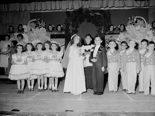 Sacred Heart children's play. 1953.