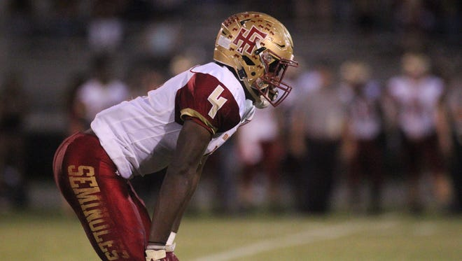 Florida High running back Kevin Sawyer ran for 268 yards and five touchdowns in the Seminoles' 48-20 win over Gadsden County last Friday.