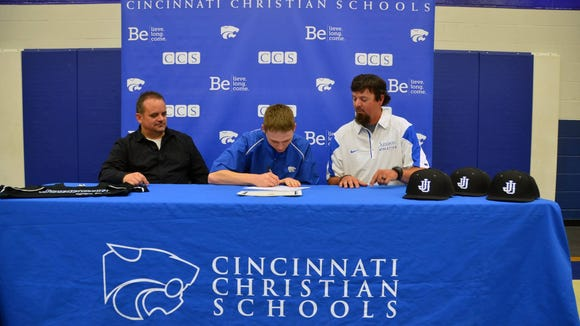 Cincinnati Christian's Andrew McGuffey signed with Johnson University