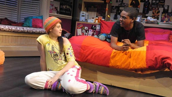 Rachael Tice and Thaddeus Fitzpatrick play two teenagers in Geva's 'I and You.'